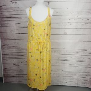 West Loop Yellow Floral Printed Dress